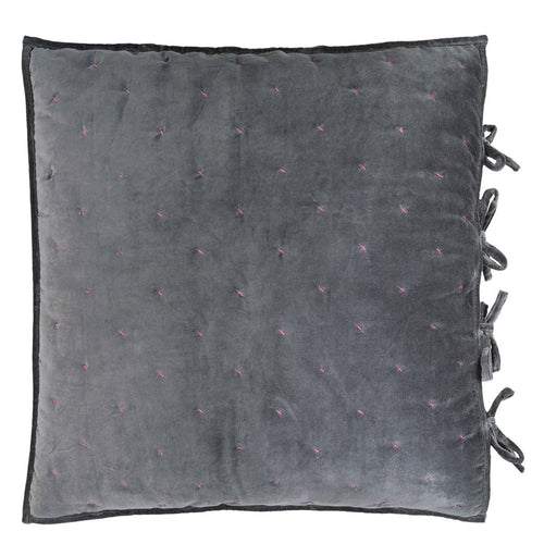 Sevanti Graphite Quilted Square Cushion