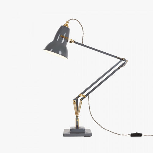 Anglepoise® 1227 Brass Desk Lamp - Elephant Grey