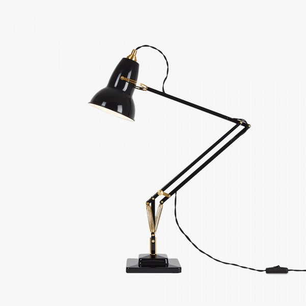 Anglepoise® 1227 Brass Desk Lamp - Jet Black