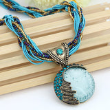 Vintage Boho Stone Necklace