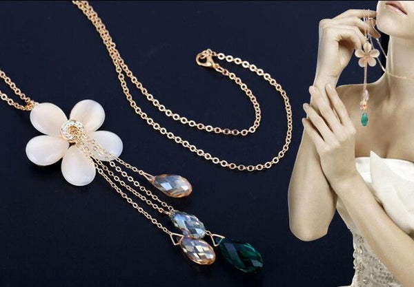 Floral Crystal Variety Necklace