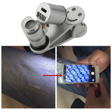 LED Microscope Magnifier Lens 60X Optical Zoom Telescope Camera Modules for iPhone/ Samsung - Allstarcasual