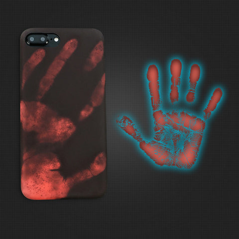 Hand Thermal Sensor Silicon Case For iPhone