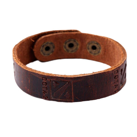 Vintage Dota 2 Logo Leather Wrap Bracelets