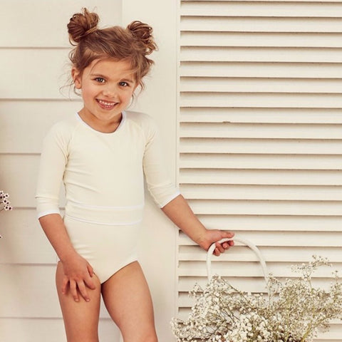 Ivory & White Sunsuit