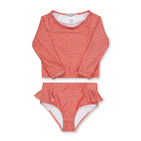 Spotted Coral Two-Piece Sunsuit
