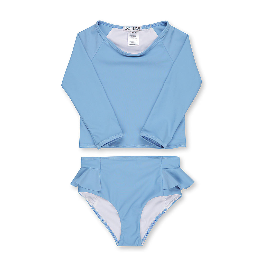 Riviera Blue Two-Piece Sunsuit