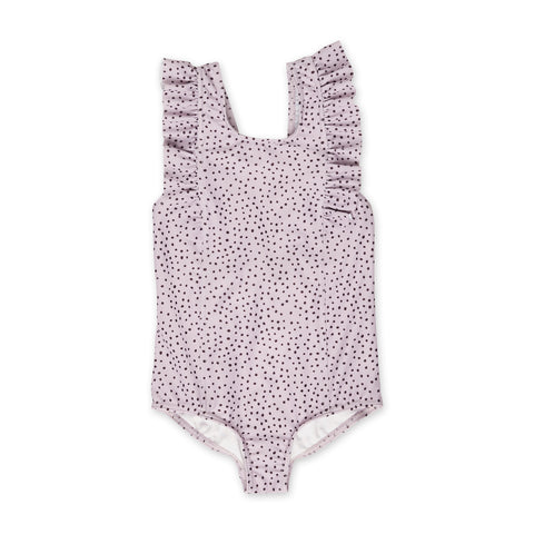 Spotted Lilac One-Piece Frill