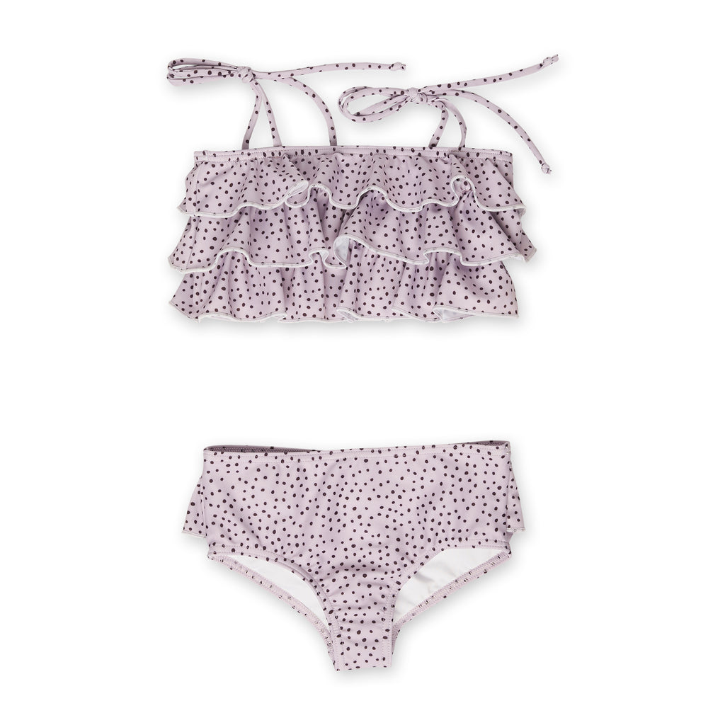 Spotted Lilac Ruffle Two-Piece