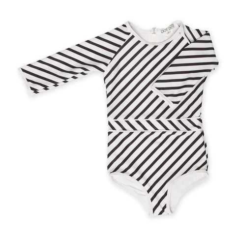 Black & White Striped Sunsuit