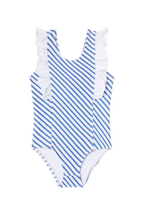 Ocean Stripe One-Piece Frill