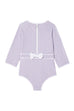 Lilac Houndstooth One-Piece Sunsuit