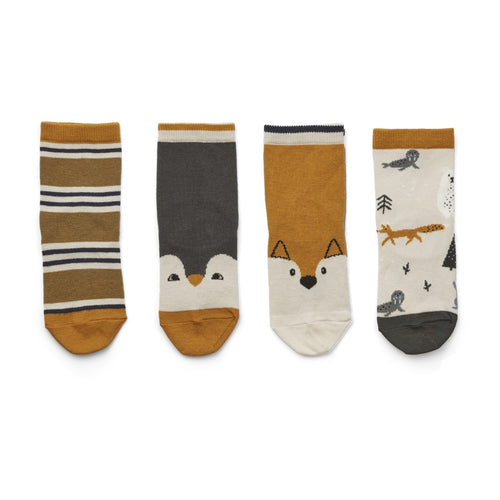Silas Cotton Socks - Arctic mix (pack of 4)