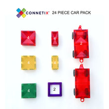 Connetix Magnetic Tiles 24 Piece Car Pack