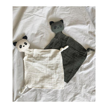 Yoko Mini Cuddle Cloth 2 Pack - Panda hunter green/sandy mix