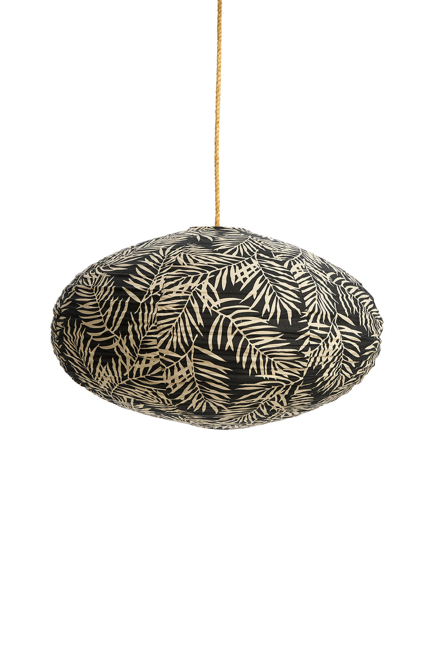 Cotton Palm Charcoal Lantern