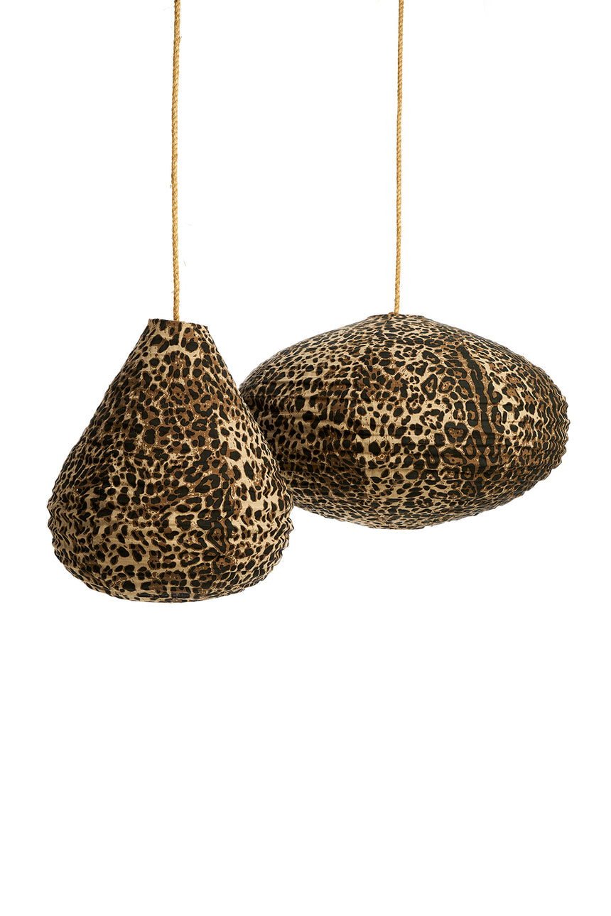 Linen Big Cat Lanterns