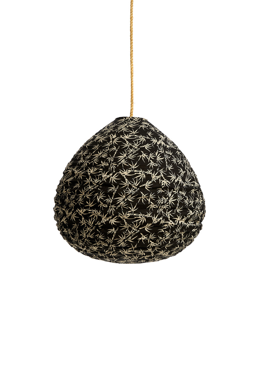 Cotton Charcoal Bamboo Pear Lantern
