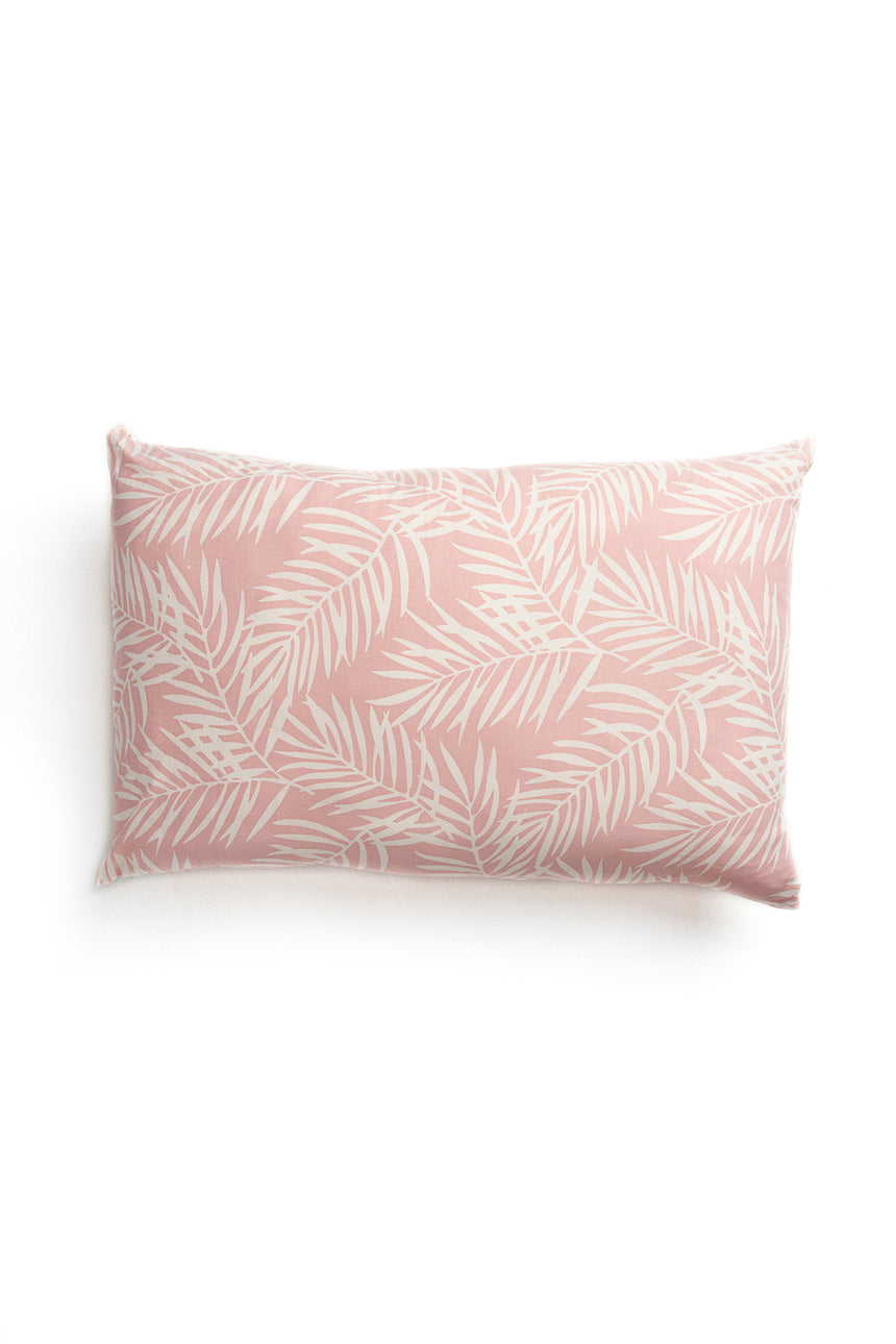 Pink Palm Pillow Case - set of 2
