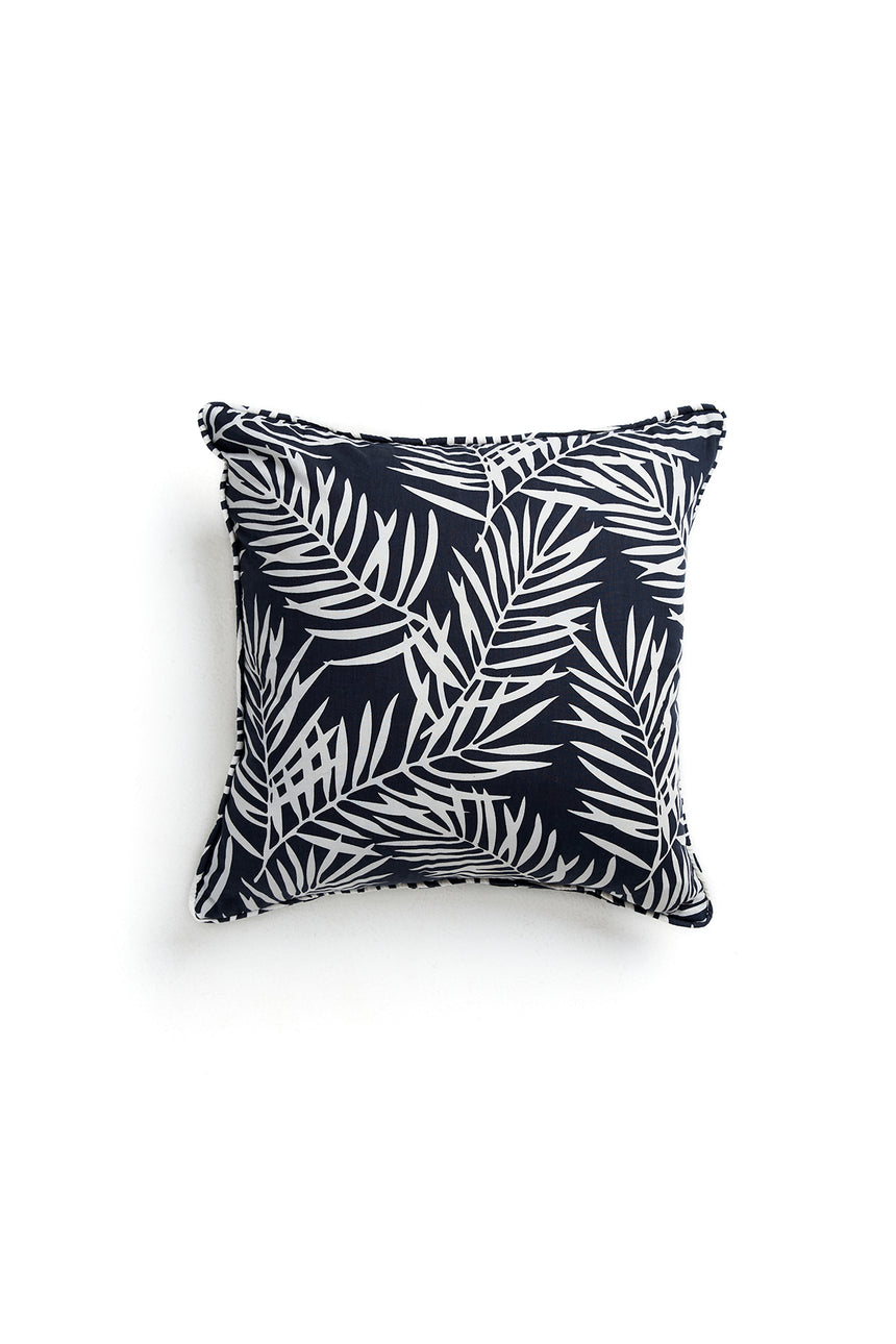Charcoal Palm Print Cushion