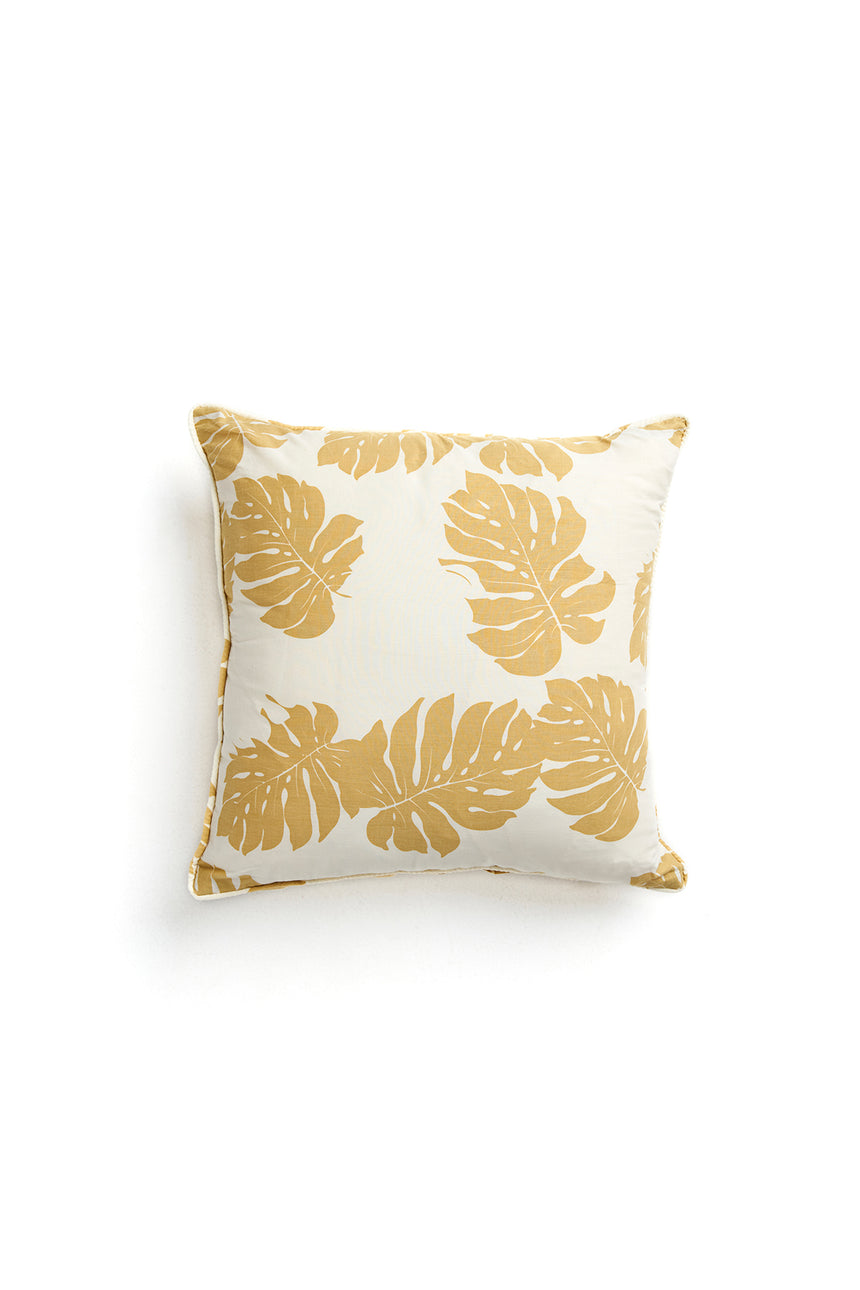Monstera Print Cushion