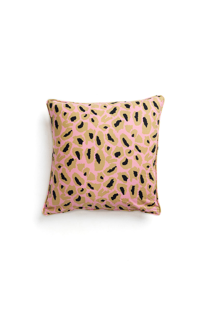 Hot Pink Leopard Print Cushion