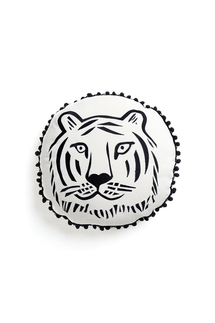 Cheeky Tiger Button Cushion
