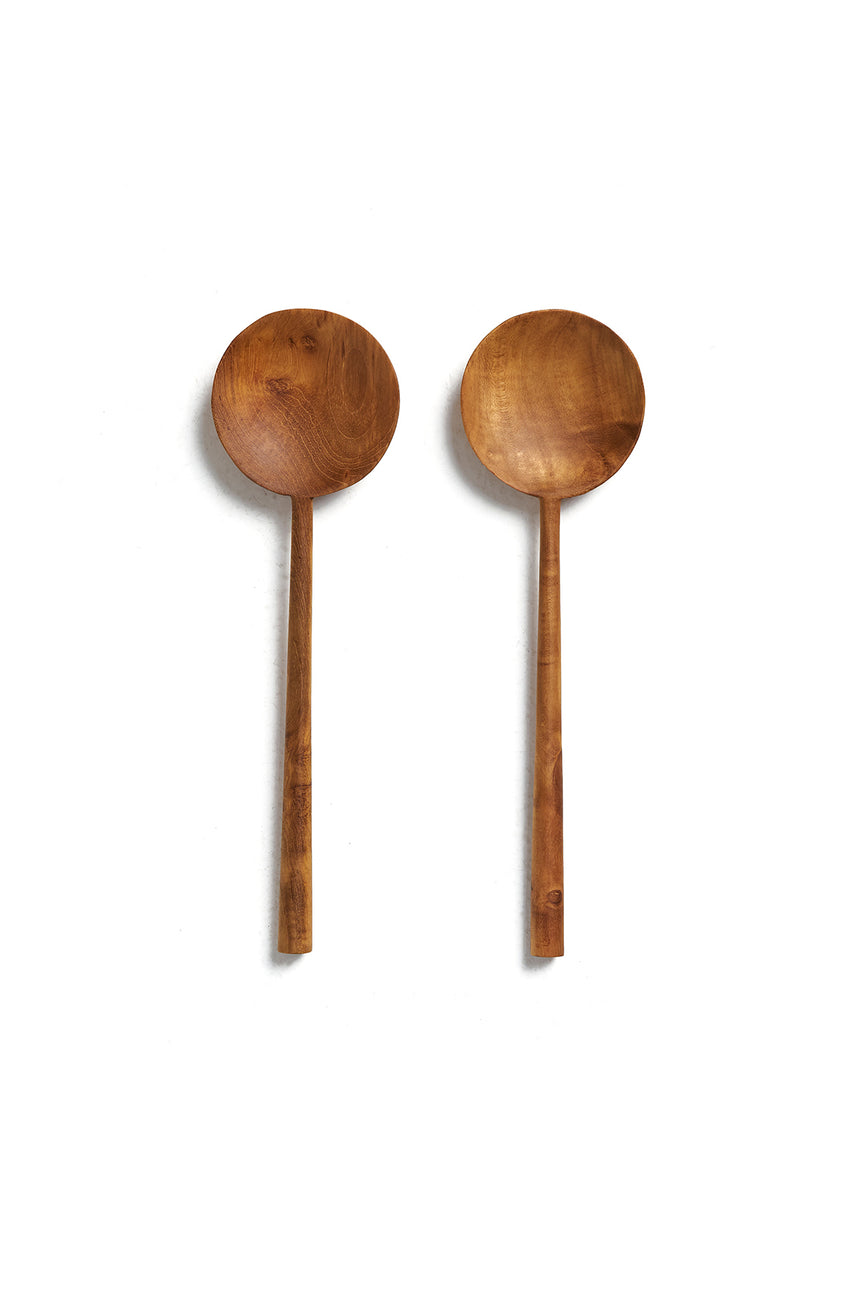 Wood Salad Spoon Set