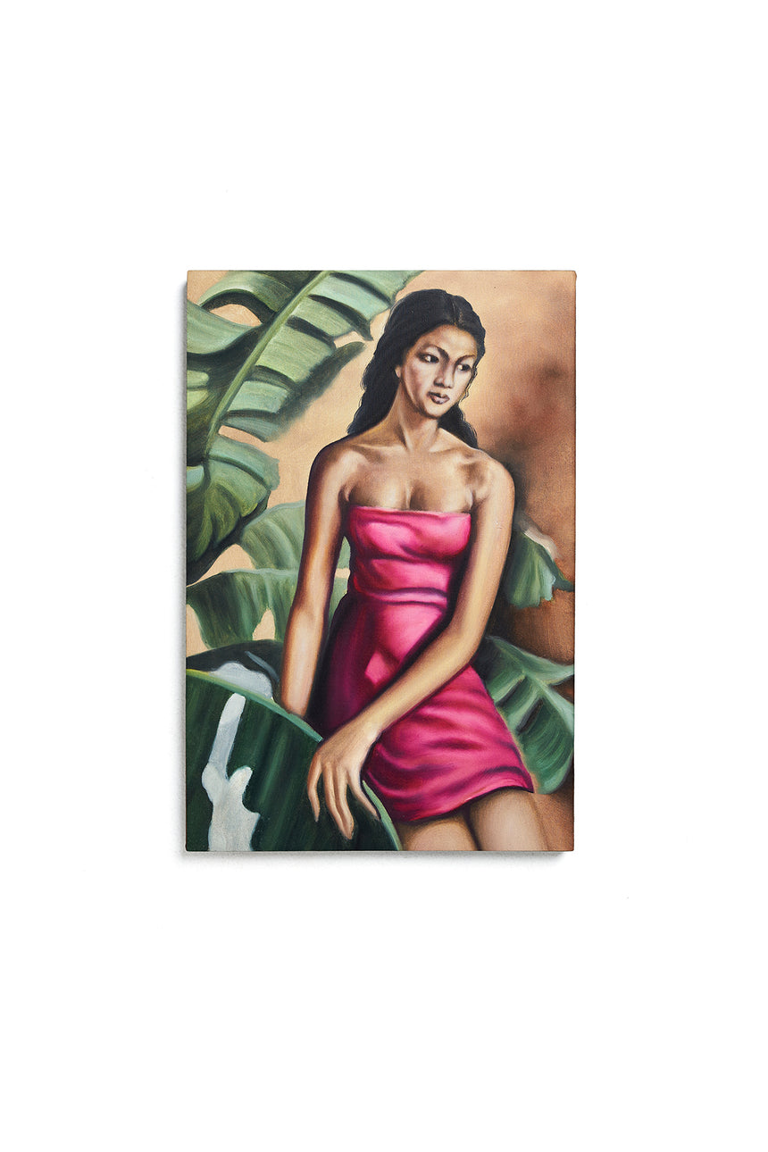 Island Girl Oil Painting
