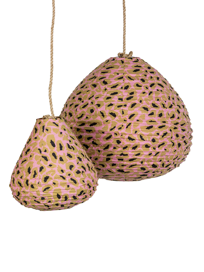 Cotton Pink Leopard Lanterns