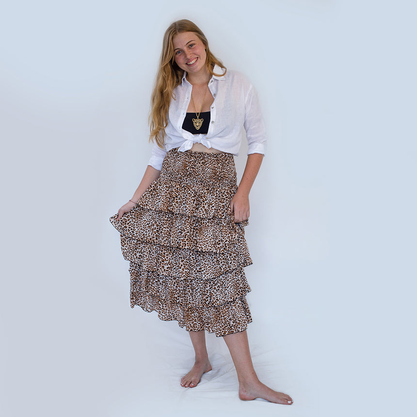 Korcula Skirt in Leopard