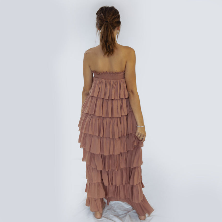 Silba Maxi Dress in Cocoa