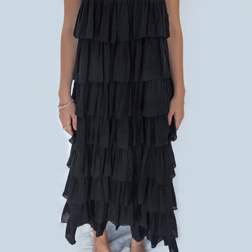 Silba Maxi Dress in Black
