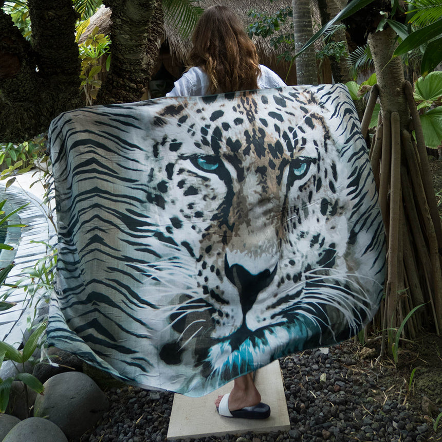 Into the Wild Leopard Sarong