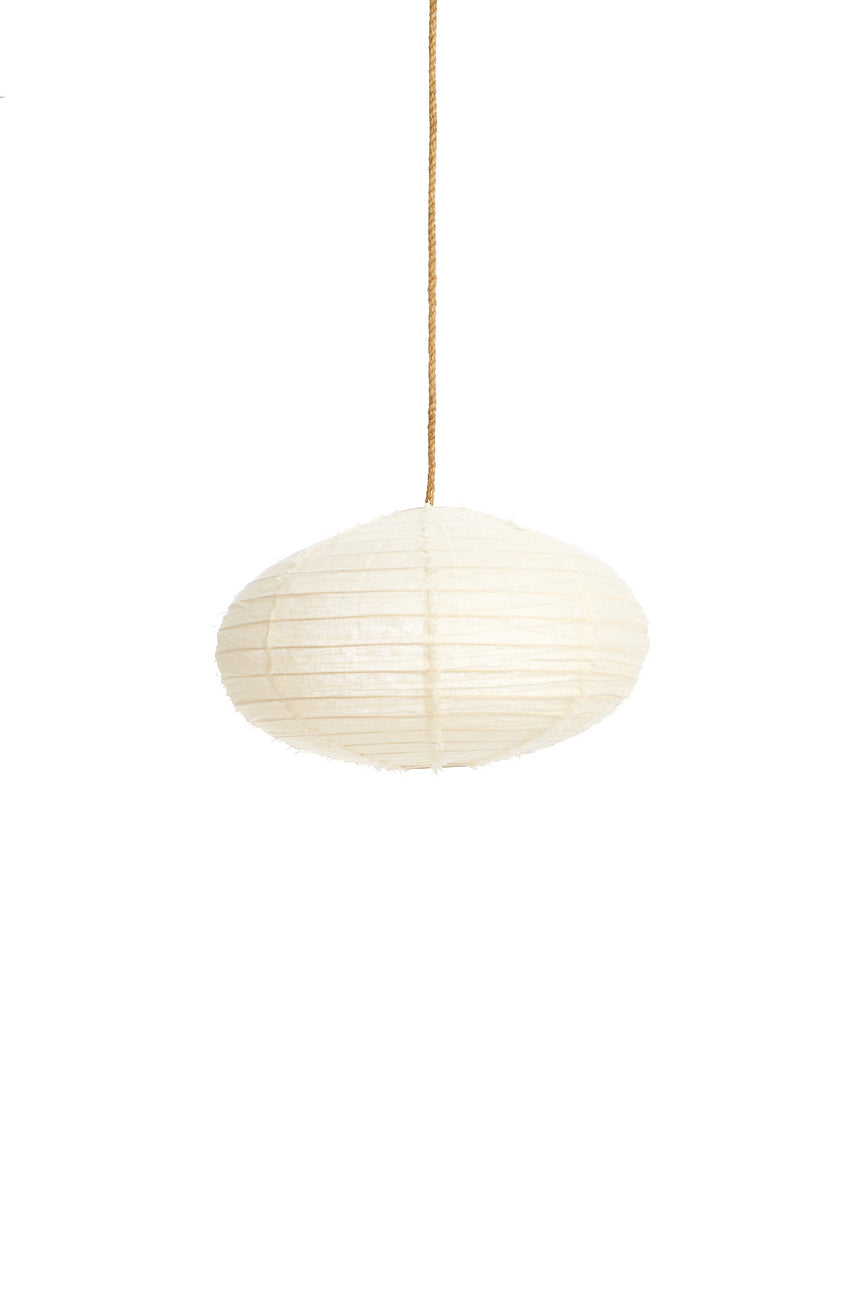 Linen Oval Lantern with Fringing