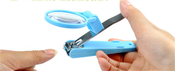 Nail Clipper with Magnifying Glass