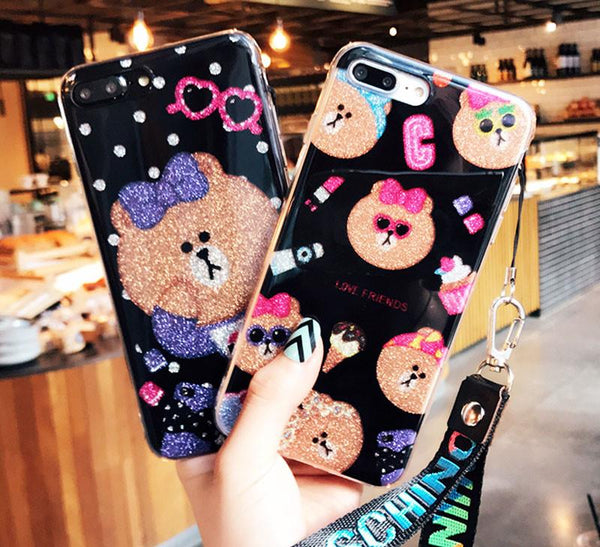 Cute Bear Girl iPhone Case