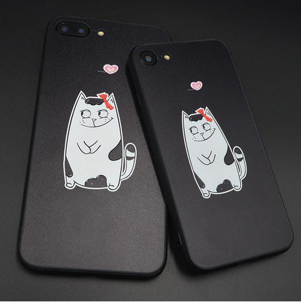 3D Cats Couple iPhone Case