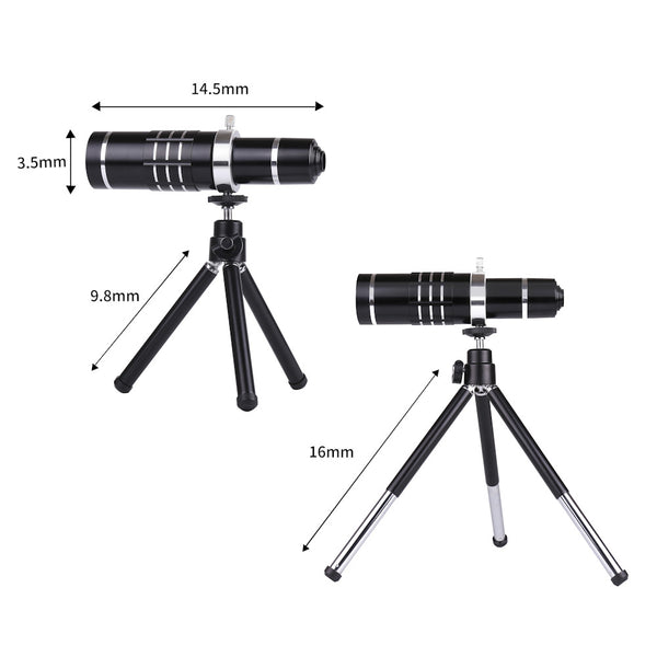 Lens Kit for Any Phone - 4 in 1 - 18x Telephoto