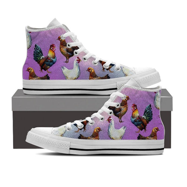 Chicken Lovers High Top Shoes