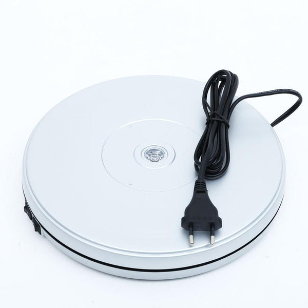 25CM WHITE LED LIGHT 360 ROTATING TURNTABLE