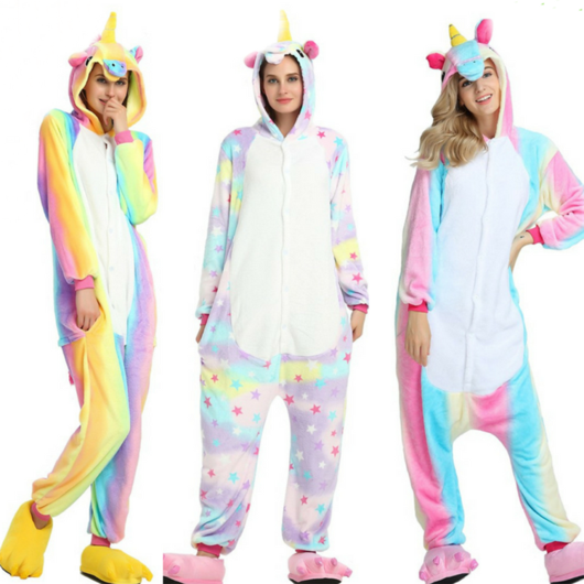 The Rainbow Multicolour Unicorn Fleece Onesie