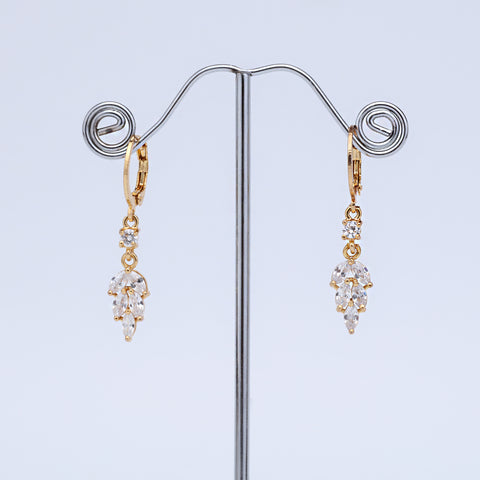 Antique Gold Plated Leaf Shape Designer Earring