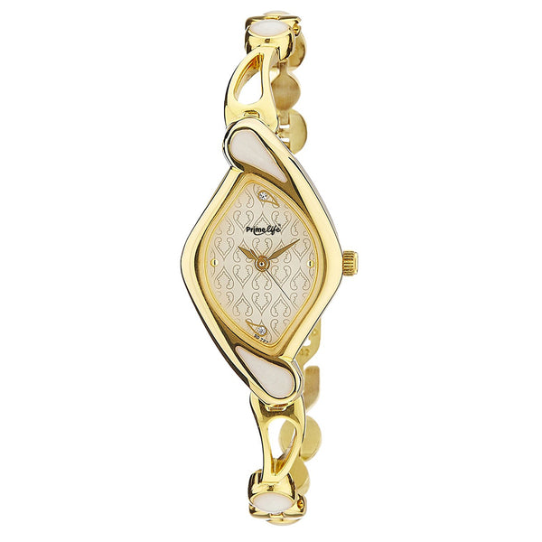 Primelife Sitara Analog White Dial Women's Watch -PF01