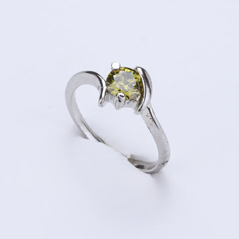 Antique Silver Plated Yellow Colour Ring