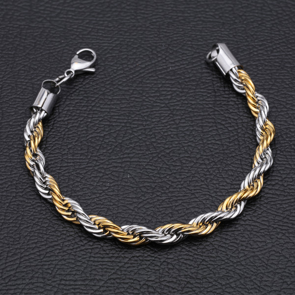 Antique Silver and Gold Plated Jens Chain Bracelet