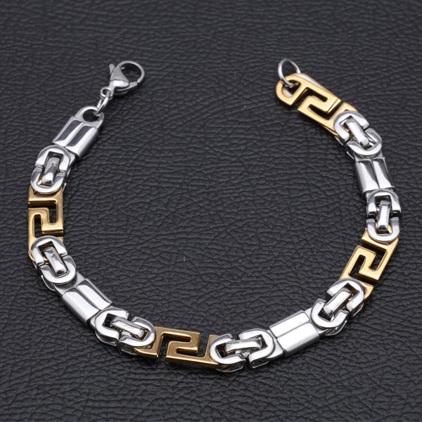 Designer Silver and Gold Plated Jens Bracelet