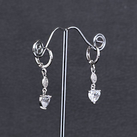 Antique Silver Plated Heart Earring