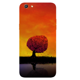 Tree Art Printed Case Cover For OPPO F3 by Mobiflip