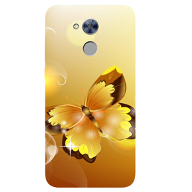 Golden Butterfly Printed Case Cover For HONOR Holly4 by Mobiflip